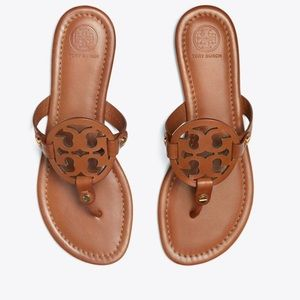 Tory Burch Miller sandals vachetta brown 10